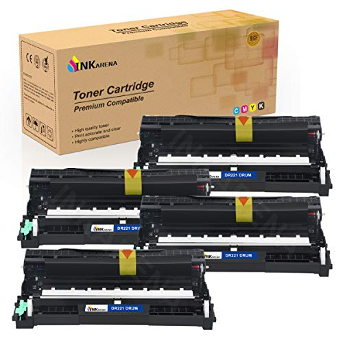 DR221 Drum Unit Set Compatible for Brother DR221-CL TN221 TN225 Toner Cartridge Replacement for Brother HL-3170CDW MFC-9340CDW MFC-9130CW MFC-9330CDW HL-3140CW Printer - by Inkarena