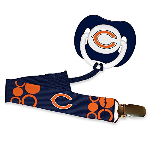 Baby Fanatic Pacifier with Clip - Chicago Bears