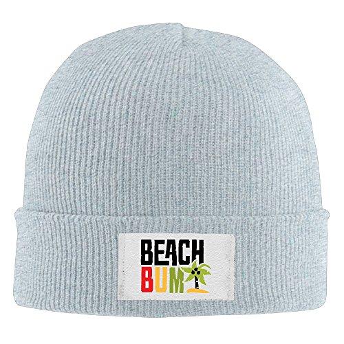 Men's Beach Bum Wig (Creamfly Adult Beach Bum Letter Wool Watch Cap Ash)