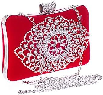 Catena Borse-multifunzionale estraibile sacchetto del pranzo, banchetto frizione di Vintage Red Flannel guscio duro di Donne, 25.5x5x10cm borsa a tracolla