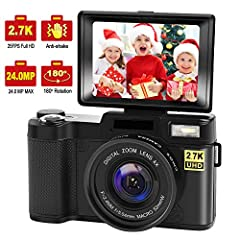 Specification: Video Resolution: Format: MOV; Size: 2.7K, 1080FHD, 720P, VGA; Frame rate: FHD 30FPS 720P30fps Image Resolution: Format: JGP; Definition: 24M, 20M, 16M, 12M, 10M, 8M, 5M, 3M, 2M  Shooting Mode: Single, 2second, 5 second, 10seco...
