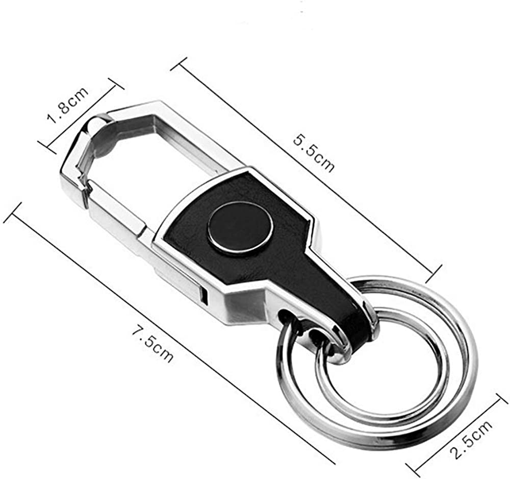 Genuine Leather Car Logo Keychain Suit Key Chain Keyring Family Present Suitable for men and women 2 Pack