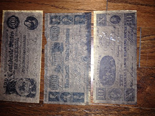 Confederate Currency Set B