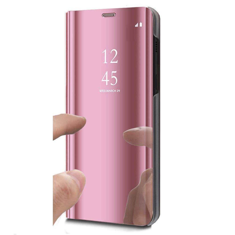 SainCat Coque Huawei Honor 8X, Coque Huawei Honor 8X Miroir Portefeuille, Ultra Slim PU Cuir Flip Miroir et Plastique Rigide Fonction Support Coque pour Huawei Honor 8X-d'or Sundayther