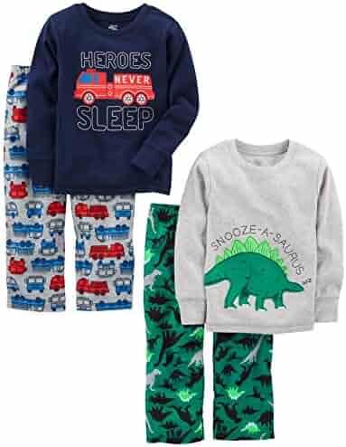 Simple Joys by Carter's Boys' Toddler 4-Piece Pajama Set