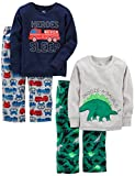 Simple Joys by Carter's Boys' Toddler 4-Piece Pajama Set, Dino/Firetruck, 3T