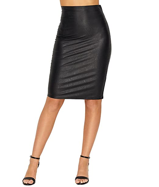 100% authenticated compare price shopping commando Women's Faux Leather Perfect Pencil Skirt SK01