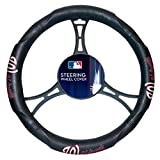 Nationals OFFICIAL Major League Baseball, Steering Wheel Cover (Made to fit 14.5-15.5 steering wheels)