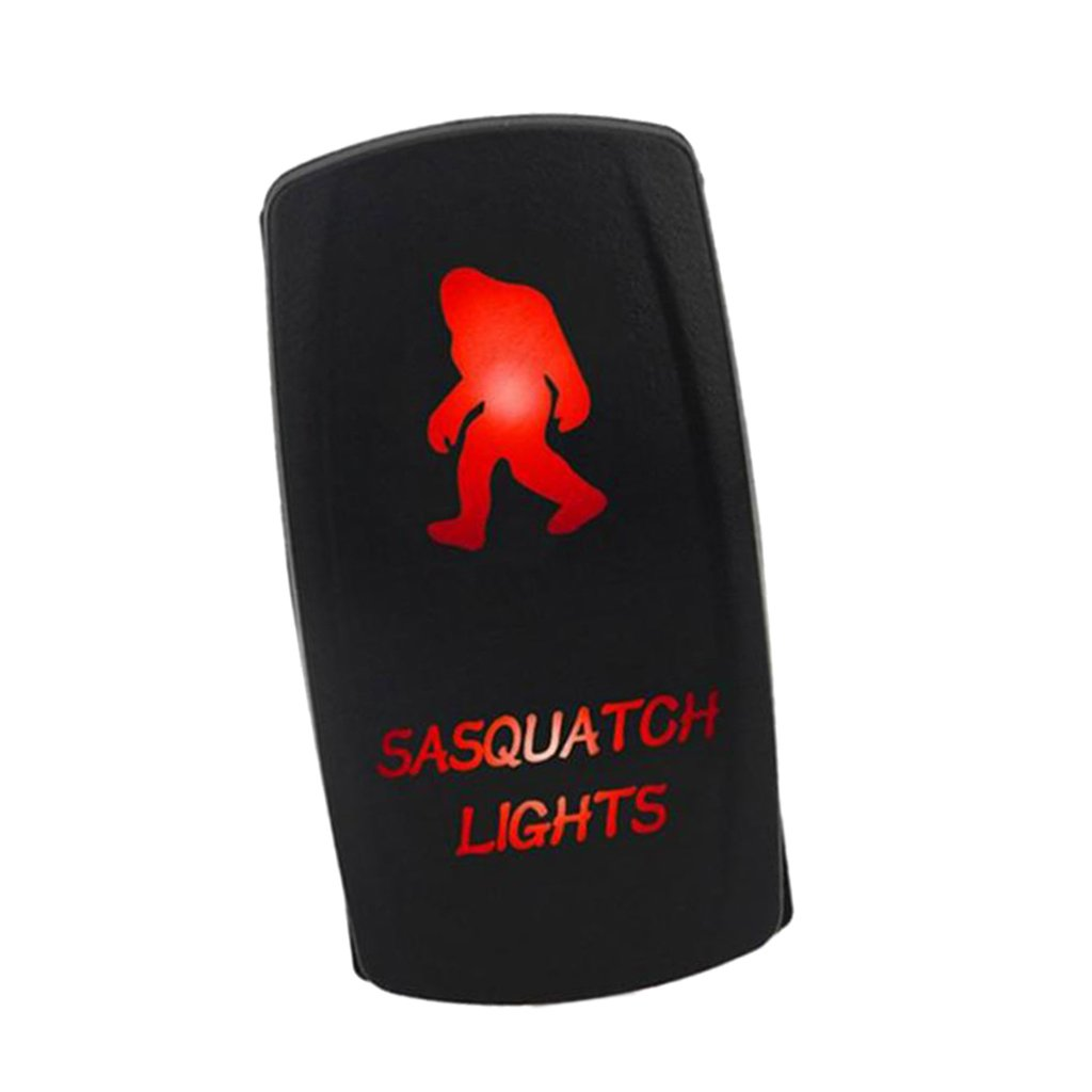 Red LED Homyl Universal Car Boat Marine Sasquatch Rocker Toggle Switch ON//Off Auto Replacement