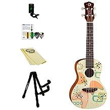 Luna Guitars Pink Martini Concert Ukulele Kit with Gigbag and ChromaCast Accessories