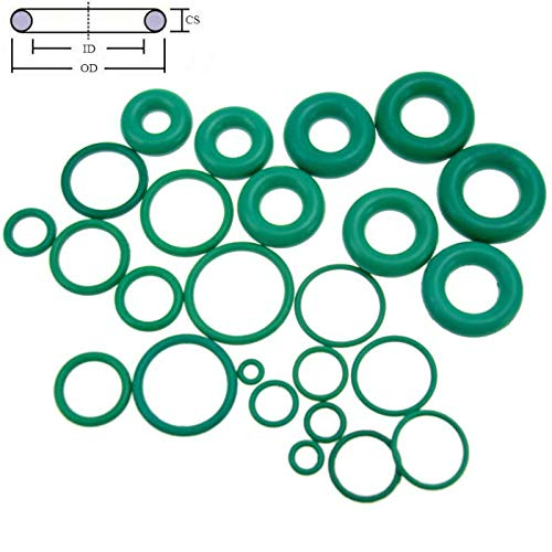 Gimax CS 2.4mm OD 4-120mm Green Viton FKM Fluorine Rubber Oil Sealing Gasket O Ring - (Size: 54mm X 2.4mm 3pcs, Thickness: 2.4mm)
