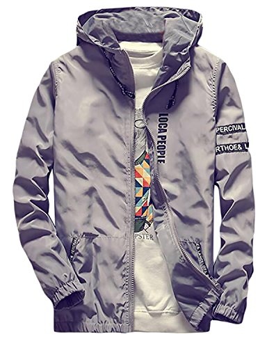 BuZaiYouYu Mens Casual Spell Color Sun Protection Slim Jacket 65US XXXXLarge Fashion by BuZaiYouYu-novelty-outerwear-jackets