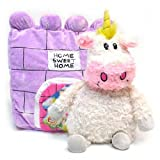 "Happy Nappers Set of 2 - Unicorn and Lady Bug 21"" Plush Pet Pillow"