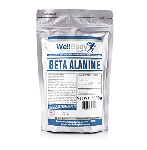 WellBodyNaturals 100 Pure Beta Alanine Powder 5 Kilograms