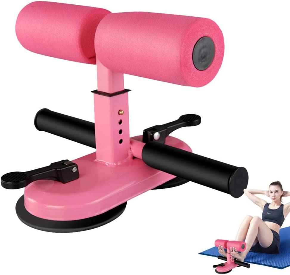 LuSitabqi Sit Up Equipment Bar, 2 Suction Cups Sit Up Bar, Indoor Exercise Device, Adjustable Abdominal/Leg Muscle Strength Training Equipment (Pink Foam) : Sports & Outdoors