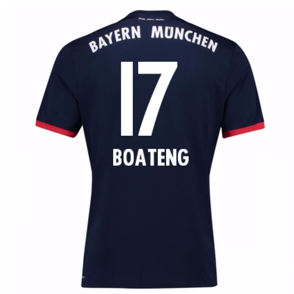 2017-18 Bayern Away Football Soccer T-Shirt Trikot (Jerome Boateng 17)