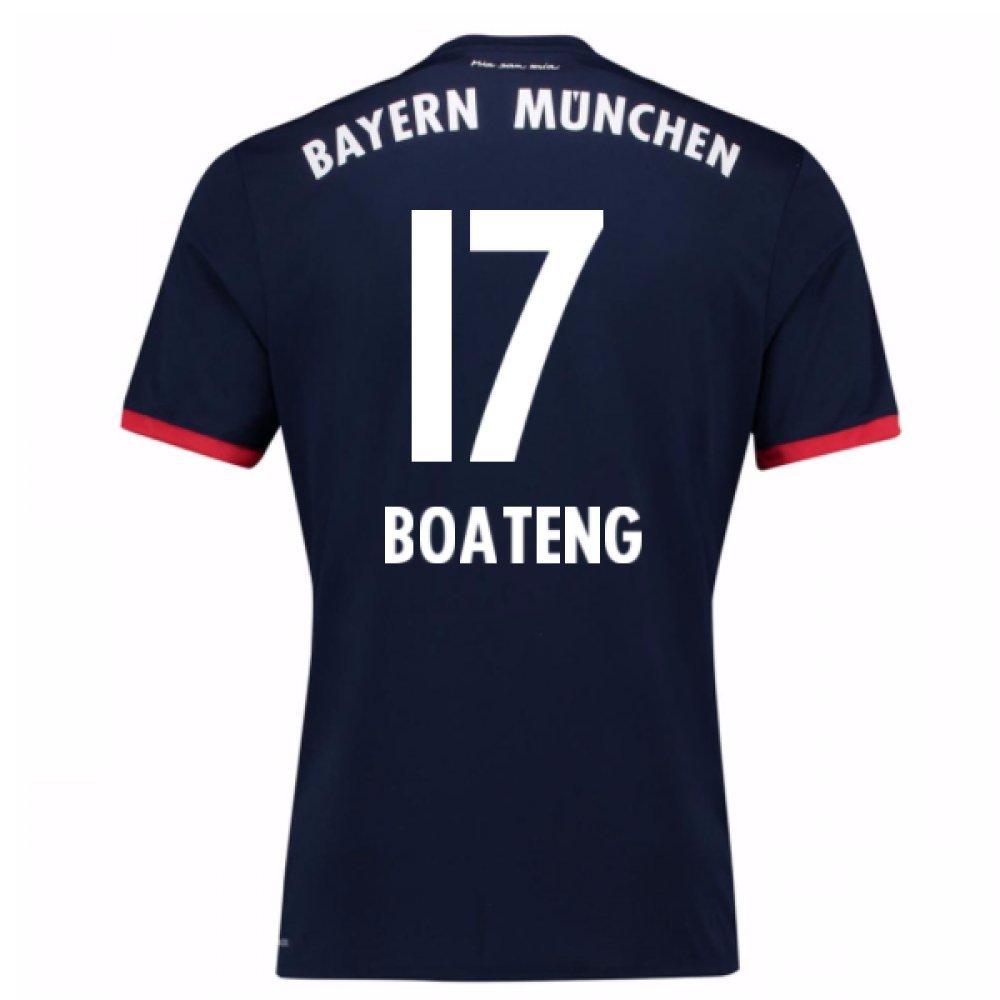 2017-18 Bayern Away Football Soccer T-Shirt Trikot (Jerome Boateng 17)