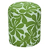Majestic Home Goods Sage Plantation Indoor/Outdoor Bean Bag Ottoman Pouf 16'' L x 16'' W x 17'' H