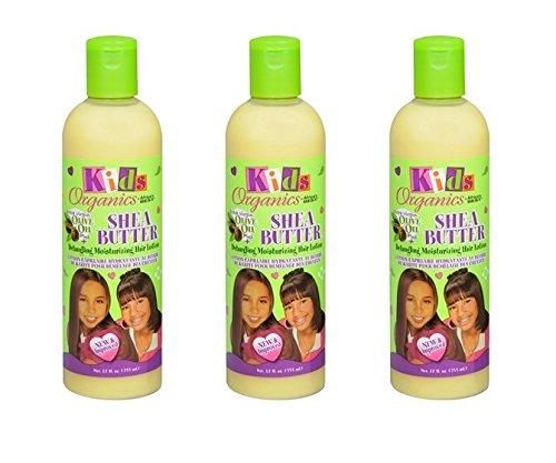 (PACK OF 3) AFRICA'S BEST KIDS ORIGINALS SHEA BUTTER DETANGLING MOISTURIZING HAIR LOTION 12OZ (Africa's Best Kids Organics Shea Butter Detangling Moisturizing Hair Lotion)