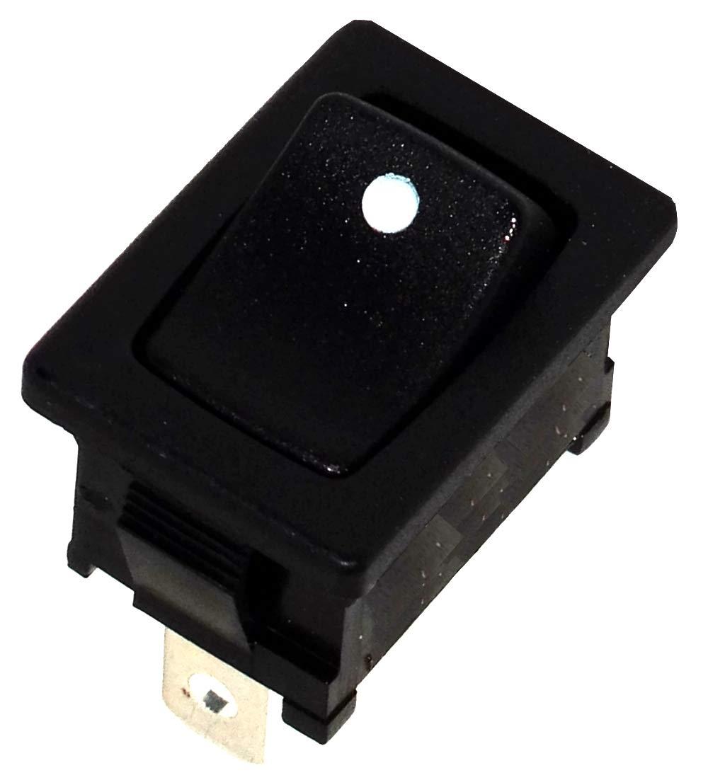 ON 10A//250V 16A//12V 1 position AERZETIX Interrupteur commutateur contacteur bouton /à bascule noir SPST OFF-
