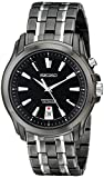 Seiko Men's SNQ121 Two Tone Stainless Steel Analog with Black Dial Watch