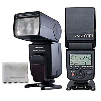 Yongnuo YN-568EX II, YN568EX II Wireless Flash TTL Master HSS 1/8000s Flash Speedlite with High Speed Sync for Canon 1Dx, 1Ds series, 1D series, 5DIII, 5DII, 5D, 7D, 60D, 50D, 40D, 30D, 20D, 650D/T4i, 600D/T3i, 550D/T2i, 500D/T1i, 450D/Xsi, 400D/Xti, 350D