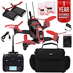 Walkera Rodeo 110 Racing Drone with Devo 7 Pro Racer Pack Plus Case, Extra Battery, And One Year Warranty Extension