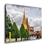 Ashley Canvas Temple Architecture Bangkok Thailand Wall Art Decoration Picture Painting Photo Photograph Poster Artworks, 20x25