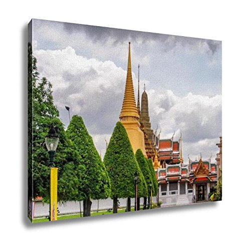 Ashley Canvas Temple Architecture Bangkok Thailand Wall Art Decoration Picture Painting Photo Photograph Poster Artworks, 20x25 by Ashley Canvas