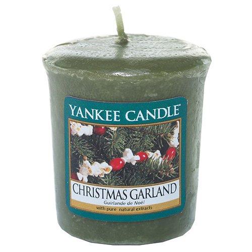 YANKEE CANDLE Samplers Candele Votive Christmas Garland, Cera, Verde, 6.1 x 5.7 x 2 cm 1316483E