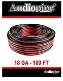 Audiopipe 100' Feet 18 GA Gauge Red Black 2 Conductor Speaker Wire Audio Cable