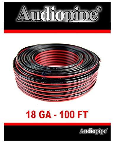 Audiopipe 100' Feet 18 GA Gauge Red Black 2 Conductor Speaker Wire Audio Cable -