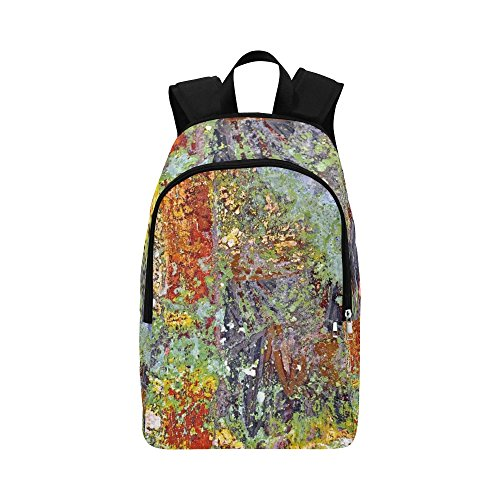 MOVTBA Church Painting Painting Painted Over Mural Texture Casual Daypack Travel Bag College School Backpack for Mens and Women by MOVTBA