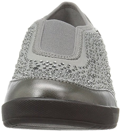 Fabric Anne Women's Klein Fashion Yarmilla Grey Sneaker Sport AK wFqXpZRFr