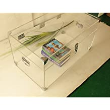 Custom Made Large Clear Acrylic Clothings /Books Chest ,Lucite Storage Trunk