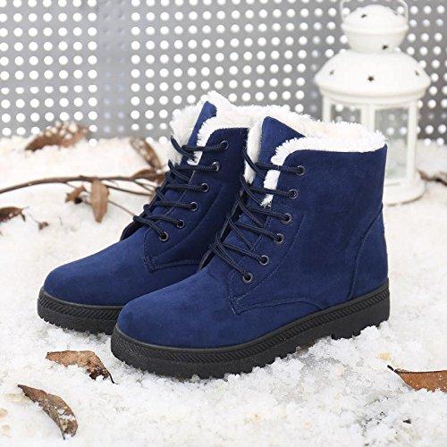 Invierno Tamaño Blue Tubo Cortas Planos Botas Nieve Hoesczs Señoras Gran Algodón De Yardas 414243 Mujer Corto Zapatos Cálidas Botines Con qzw8XFB