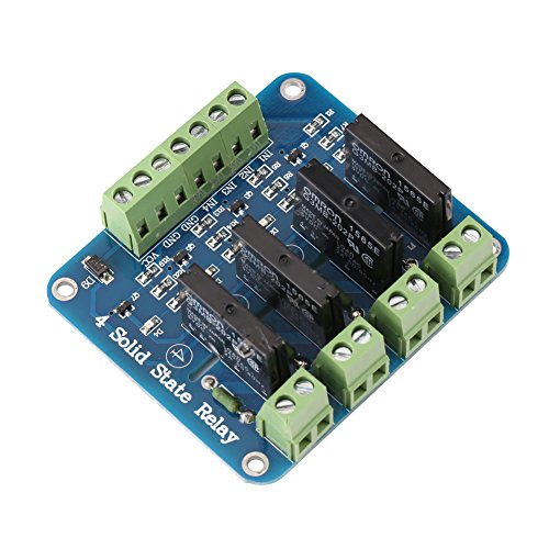 1pc 4-channel 5V Solid State Relay Module SSR Board for AC 110V-240V Load with Fuse