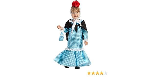 Disfraz de Madrileña Chulapa Azul (1-2 años): Amazon.es: Juguetes ...