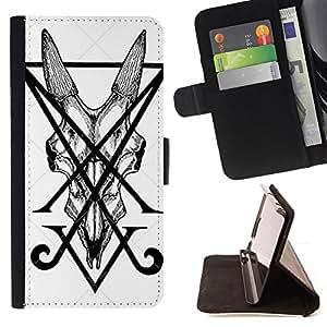 "For HTC One Mini 2 M8 MINI,S-type Letra inicial V Art Pen Tile Monster"" - Dibujo PU billetera de cuero Funda Case Caso de la piel de la bolsa protectora"