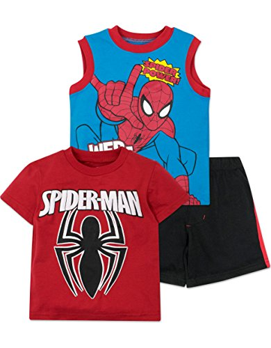 spider-man+tank+tops Products : Marvel Spiderman Boys' Shirt, Tank Top and Shorts Set