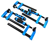 Blue HandleF Clamps Bar Clamp Heavy Duty 150 x 50mm 6' Long Quick Slide Wood Clamp 4pc Set
