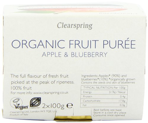 Clearspring Organic Apple and Blueberry Fruit Puree 2x100 g (Pack of 12) by Clearspring (Image #3)