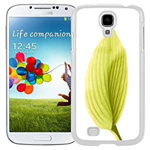 Unique and Fashionable Cell Phone Case Design with iOS 8 Yellow Leaf Galaxy S4 Wallpaper in White