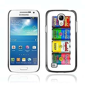 CASETOPIA / Warhol Soup Cans / Samsung Galaxy S4 Mini i9190 MINI VERSION! / Prima Delgada SLIM Casa Carcasa Funda Case Bandera Cover Armor Shell PC / Aliminium