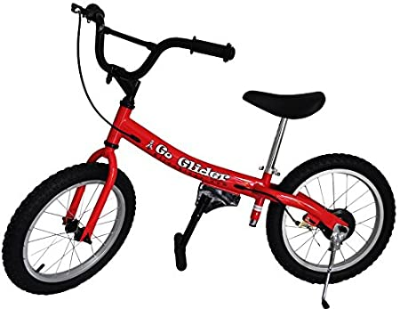 Go Glider Kids Balance Bike Lightweight Alloy with Patented Slow Speed Geometry (35 Inch Max Handlebar Height) Blue 16-Inch Glide Bikes GG-16B Air