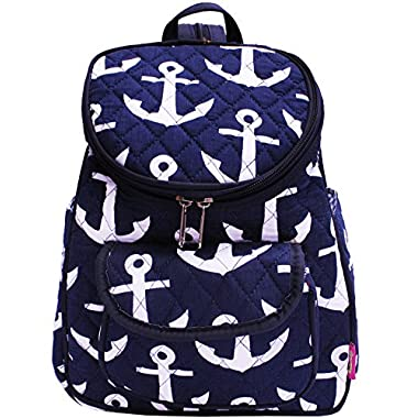Anchor Print NGIL Quilted Mini Backpack