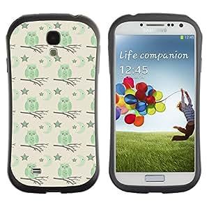 DesignCase Premium TPU / ABS Hybrid Back Case Cover Samsung Galaxy S4 IV i9500 ( cute owl )