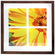 nexxt Suspense Float Picture Frame, 14 by 14-Inch, Chestnut