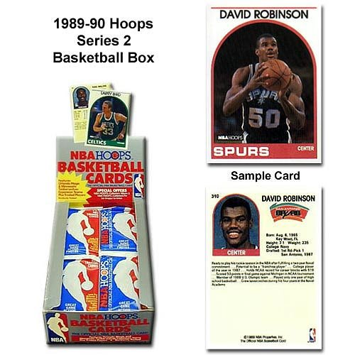 Card Box Series Basketball 2 - 1 (One) Box of 1989-90 NBA Hoops Series 2 Basketball Cards Wax (36 Packs Per Box)