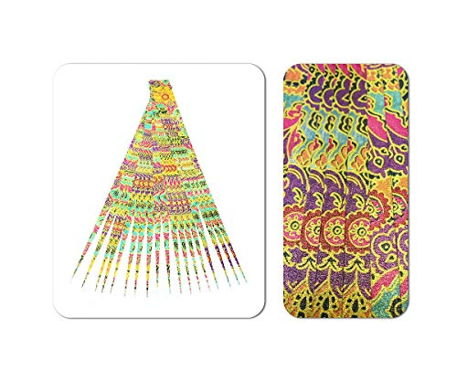 """Double Sided Pearlescent Paper Bead Beading Strips for Paper Beads 1/2"""" Precut Paper Strips Make Beautiful Beads and Other Crafts from Ground Zero Creations"""